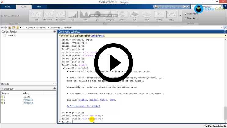 MATLAB Course Video1