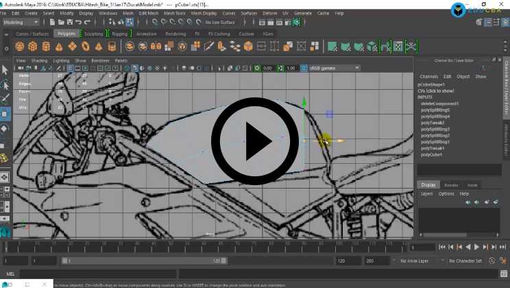 Maya Course - Creating the Front Body
