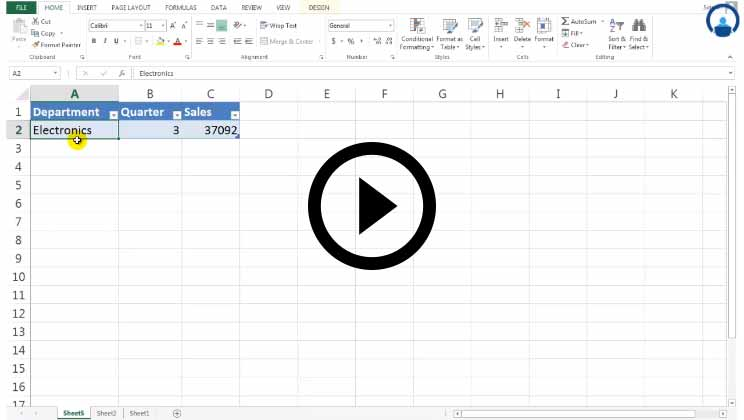 Excel for Marketing Course - Pivot Table
