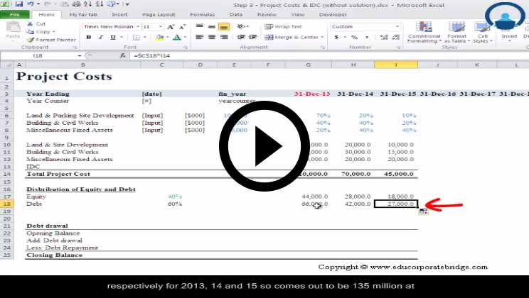 Project Finance Course - Completing The Cash Flow Statements