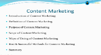Best and Successful Method Content Marketing
