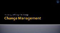 Change Management part 1