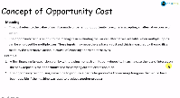 Concept of Opportunity Cost Example