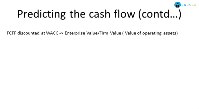 DCF Predicting the Cash Flows