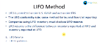 The LIFO Method