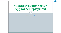 Vmware vCentre Server Appliance Deployment Continues
