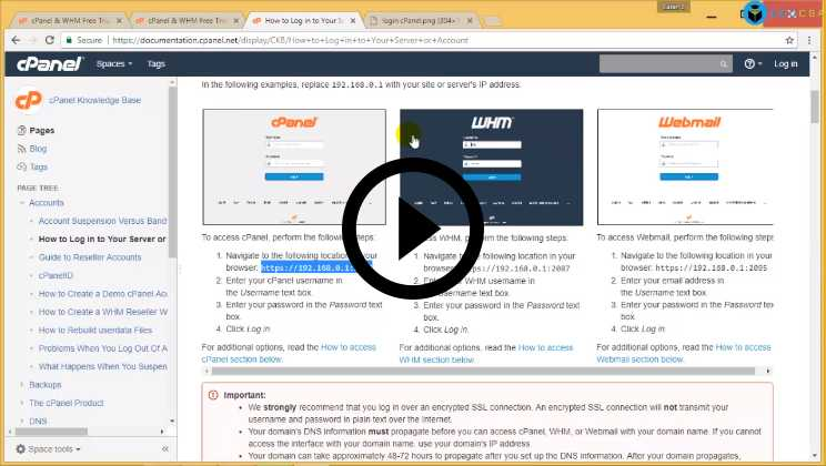 cPanel Certification Course Video1