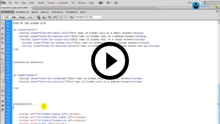 Foundation Framework Tutorial Video1