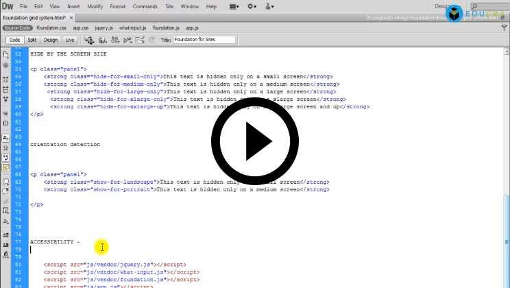 Foundation Framework Tutorial Video3