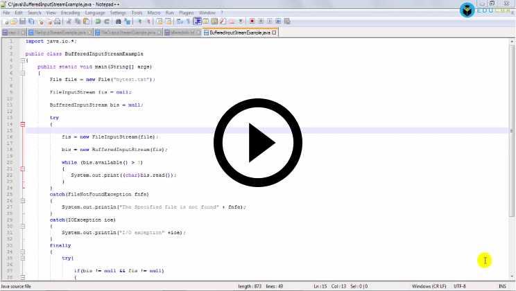 Java IO Tutorial Video2