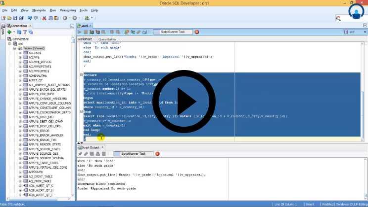 PL SQL Training Video1
