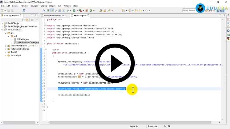Software Development Course - Parameterize and Launch Browser Dynamically