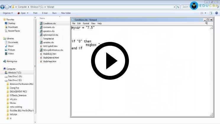 VBScript Training Video1