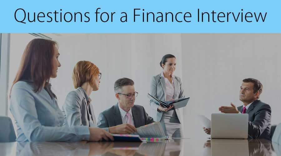 Questions For A finance Interview