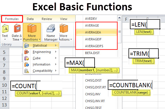 Excel Basic Functions