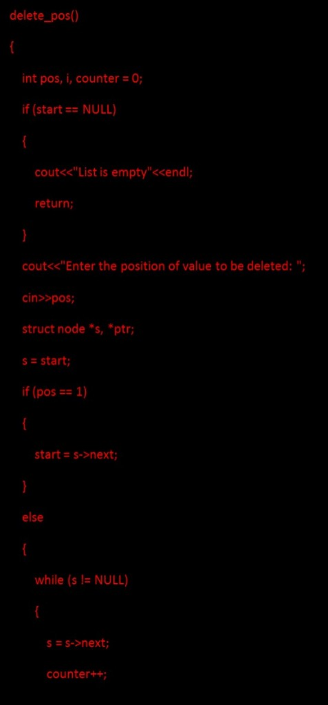 Data Structure - Deleting a node from list 1