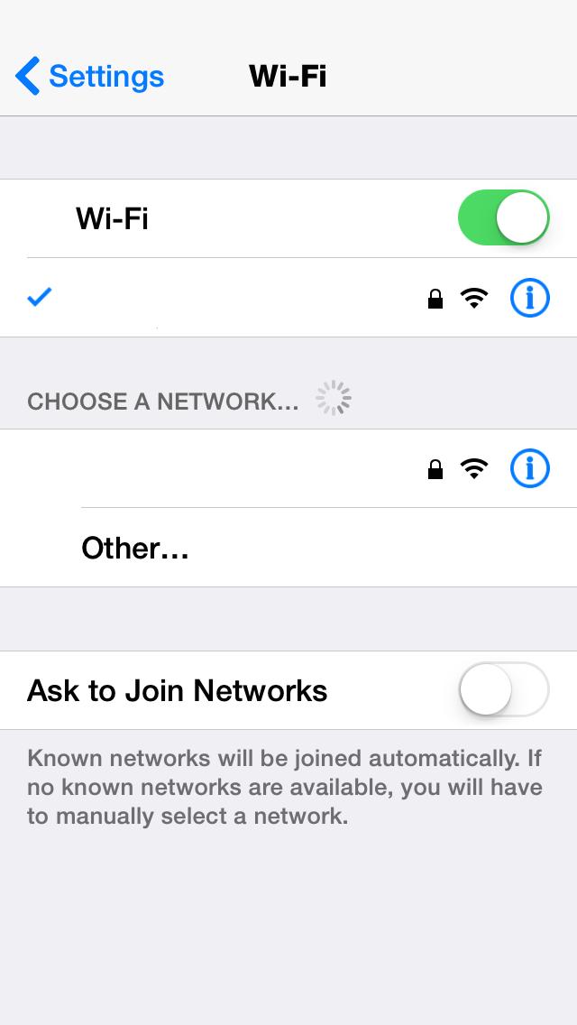 iOS 8 Disable Wi-Fi