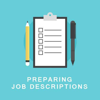 preparing job descriptions Job analysis: job descriptions job descriptions, as a management tool, can greatly simplify an organization's human resource management a job description clarifies work functions and reporting relationships, helping employees understand their jobs.