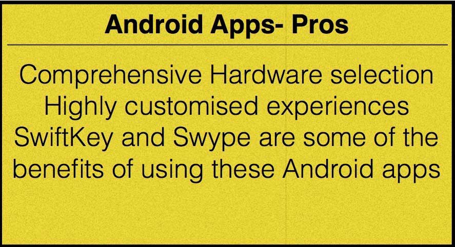 android apps pros
