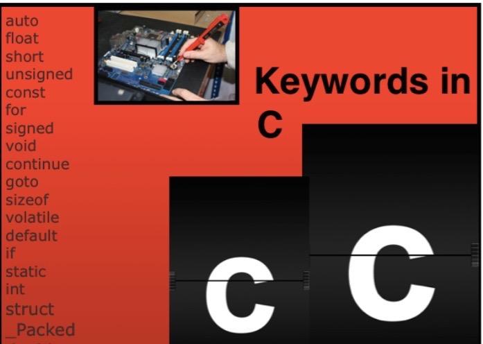 keywords in C