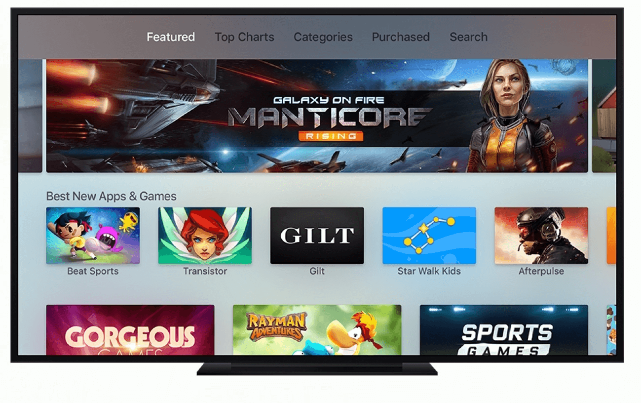 New Apple TV with tvOS