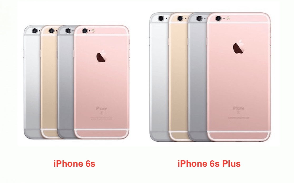 iPhone 6s and iPhone 6s colour variants
