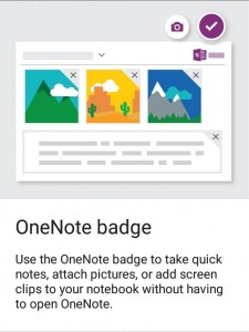 one note badge