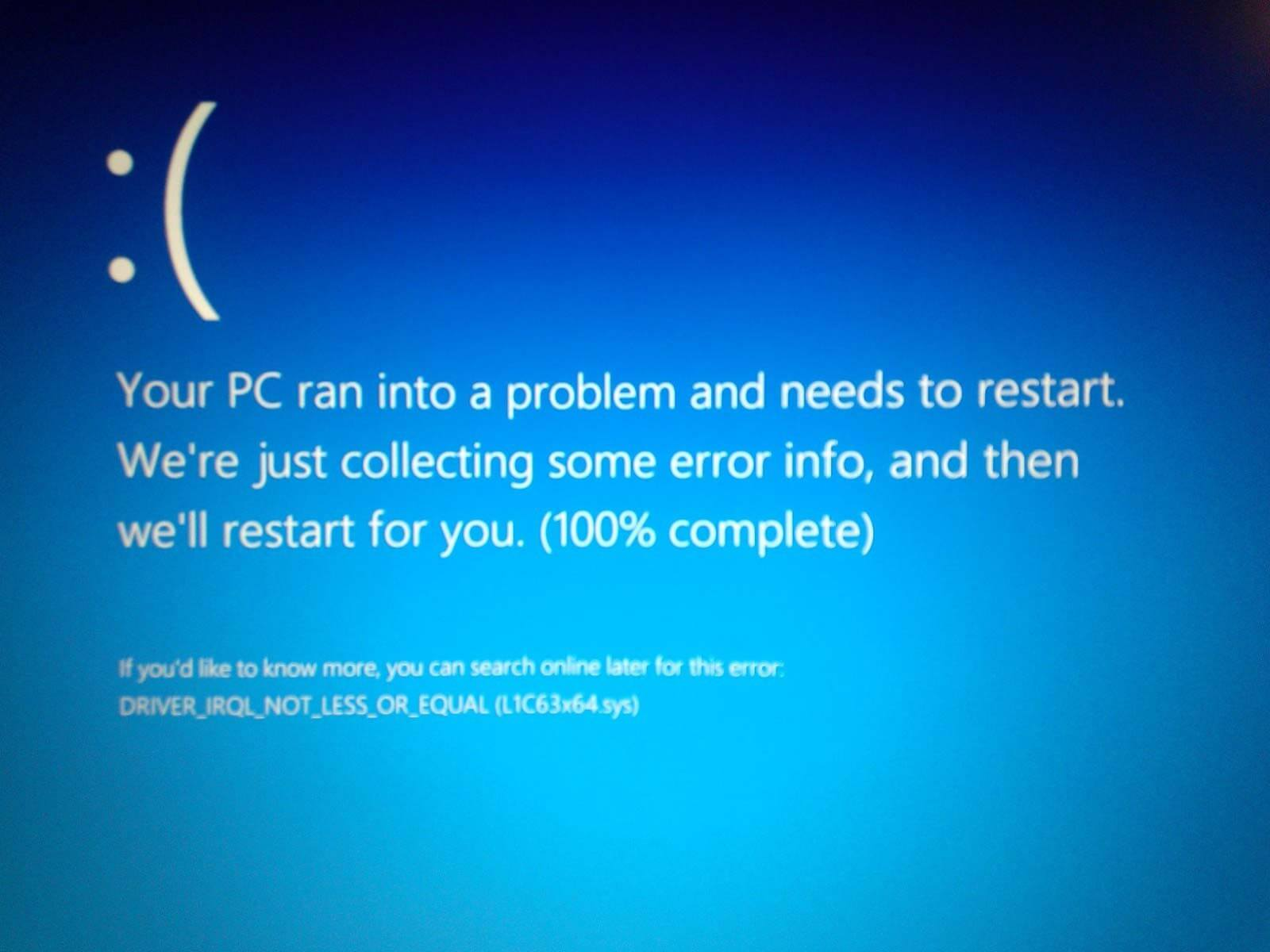 windows 10 error message