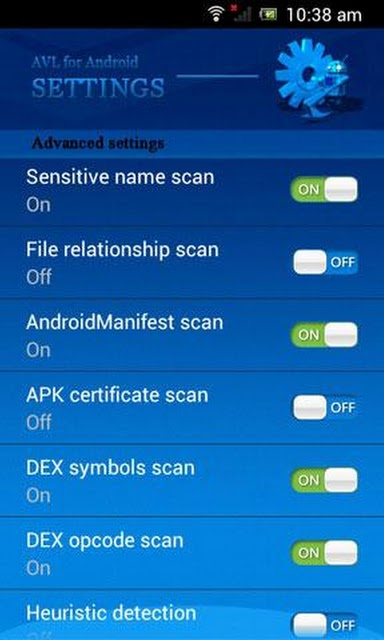 Android Security Applications - AVL