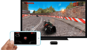 Gaming on Apple TV using iPhone device