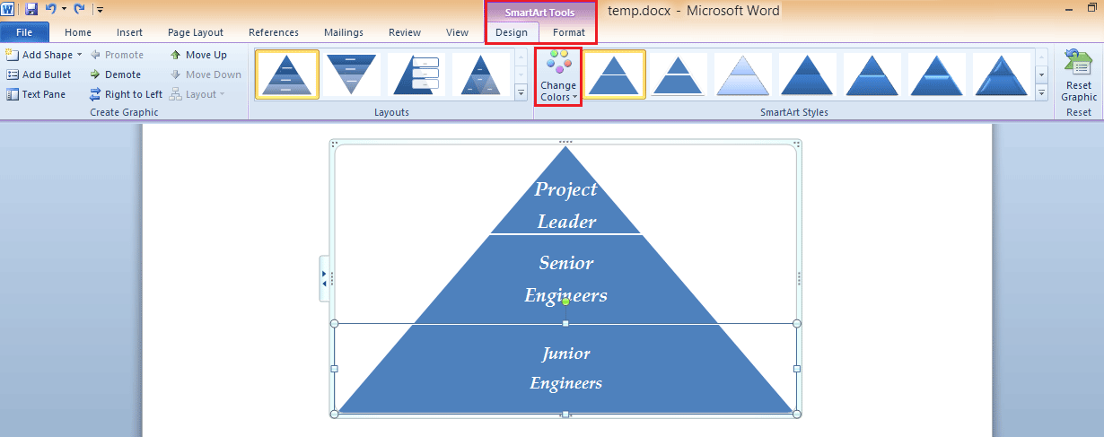 11 SmartArt Example