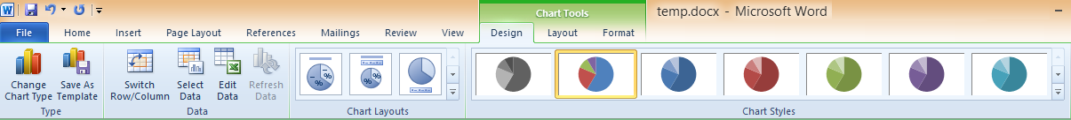 16 Chart Tools Screen