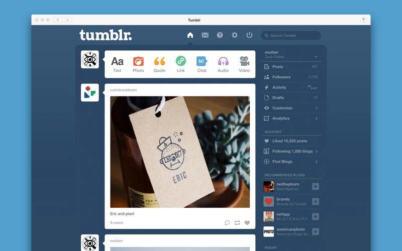Tumblr - Android google apps