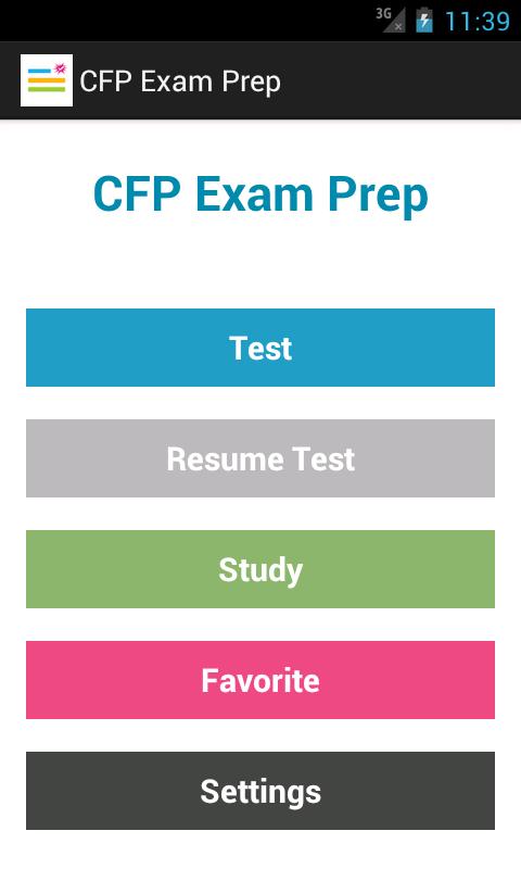 CFP Exam