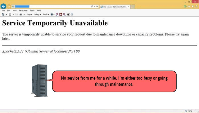 Service Temporarily Unavailable - website errors