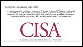 certification CISA