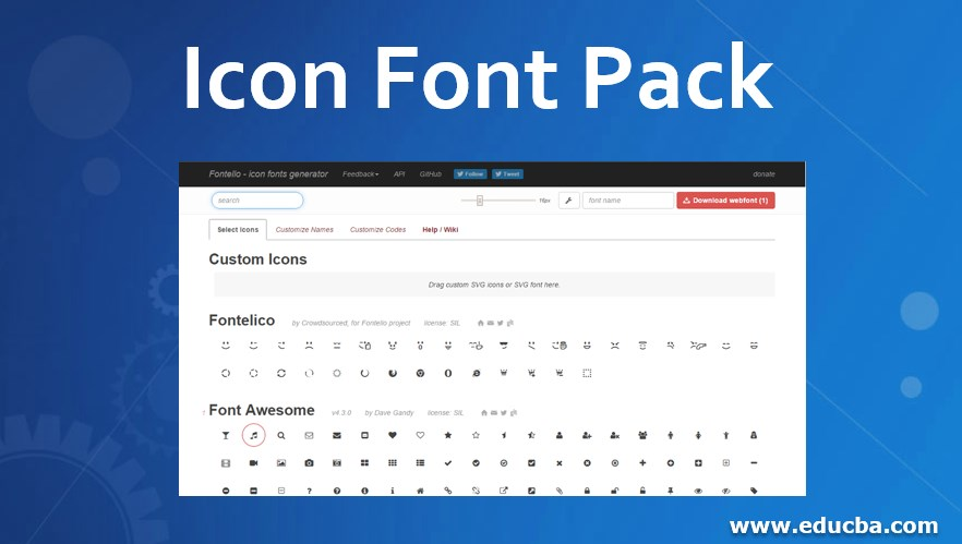 Icon Font Pack