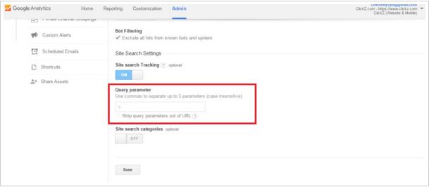 Acccount of Google Analytics