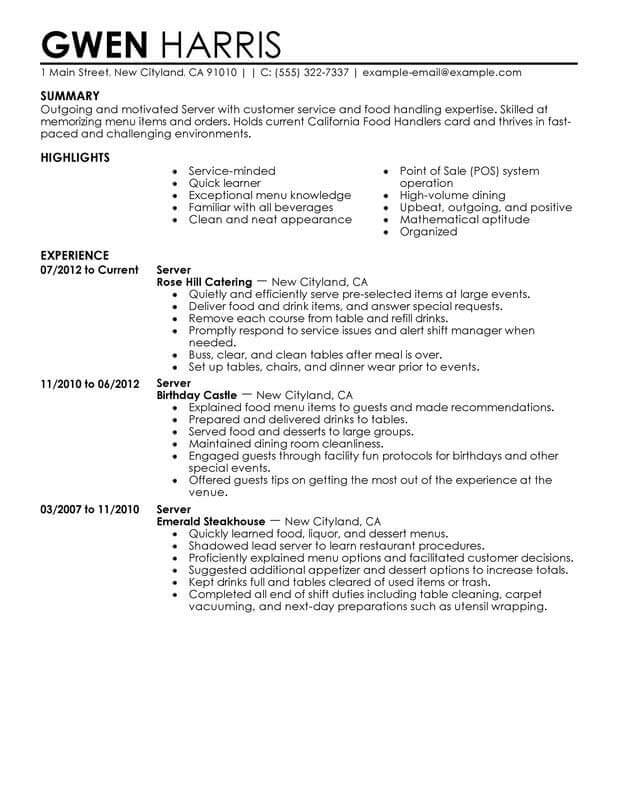best resume types