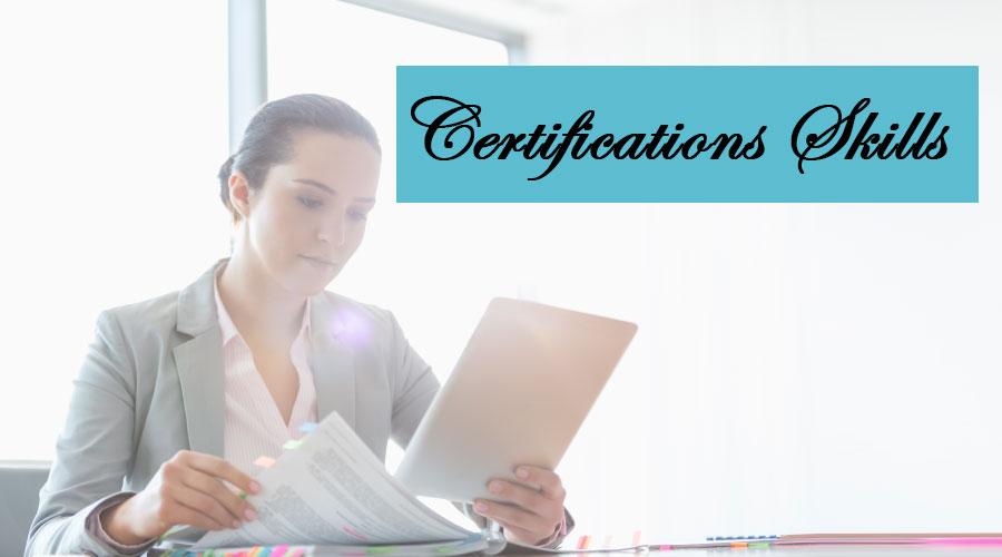 certification skills