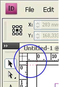 corner ruler - indesign