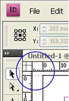 corner ruler - indesign