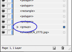 group layer - indesign