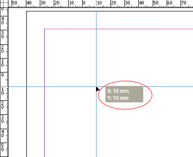 xy coordinates - indesign