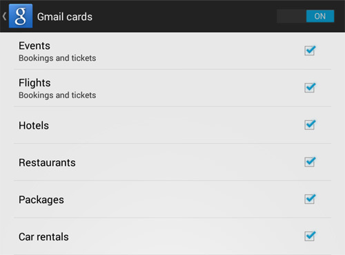 Gmail Cards
