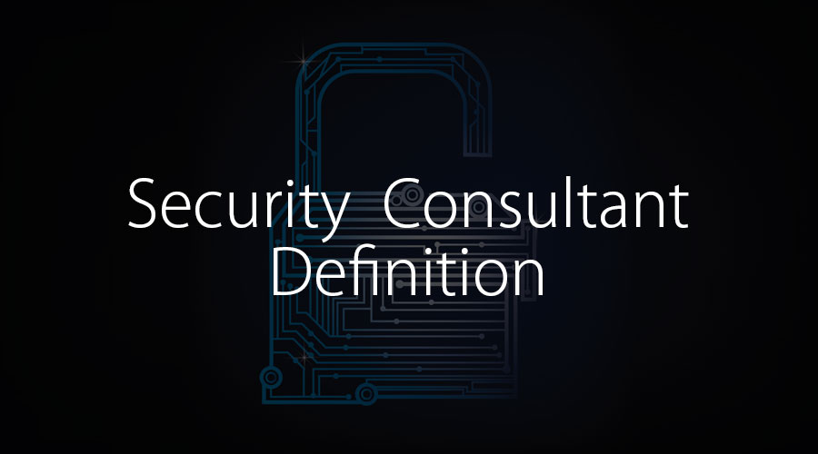 security consultant definition