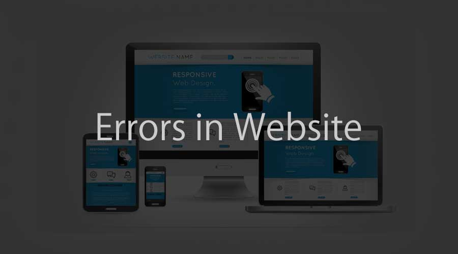 errors in website