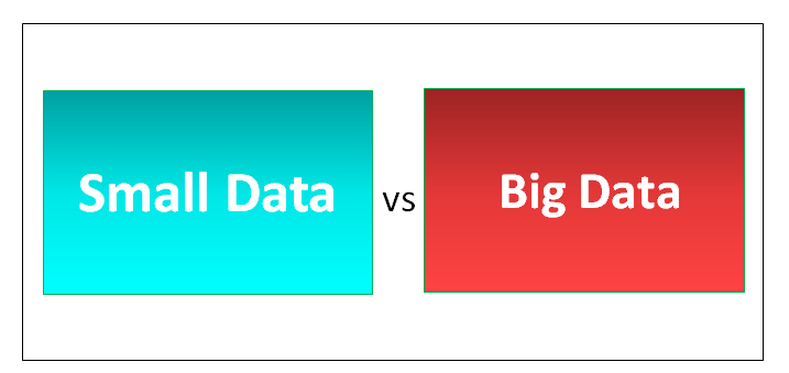 Small Data vs Big Data