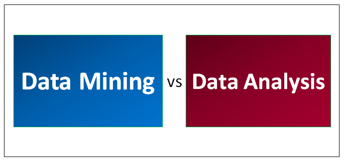 Data Mining vs Data Analysis