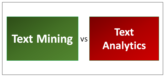 Text Mining vs Text Analytics
